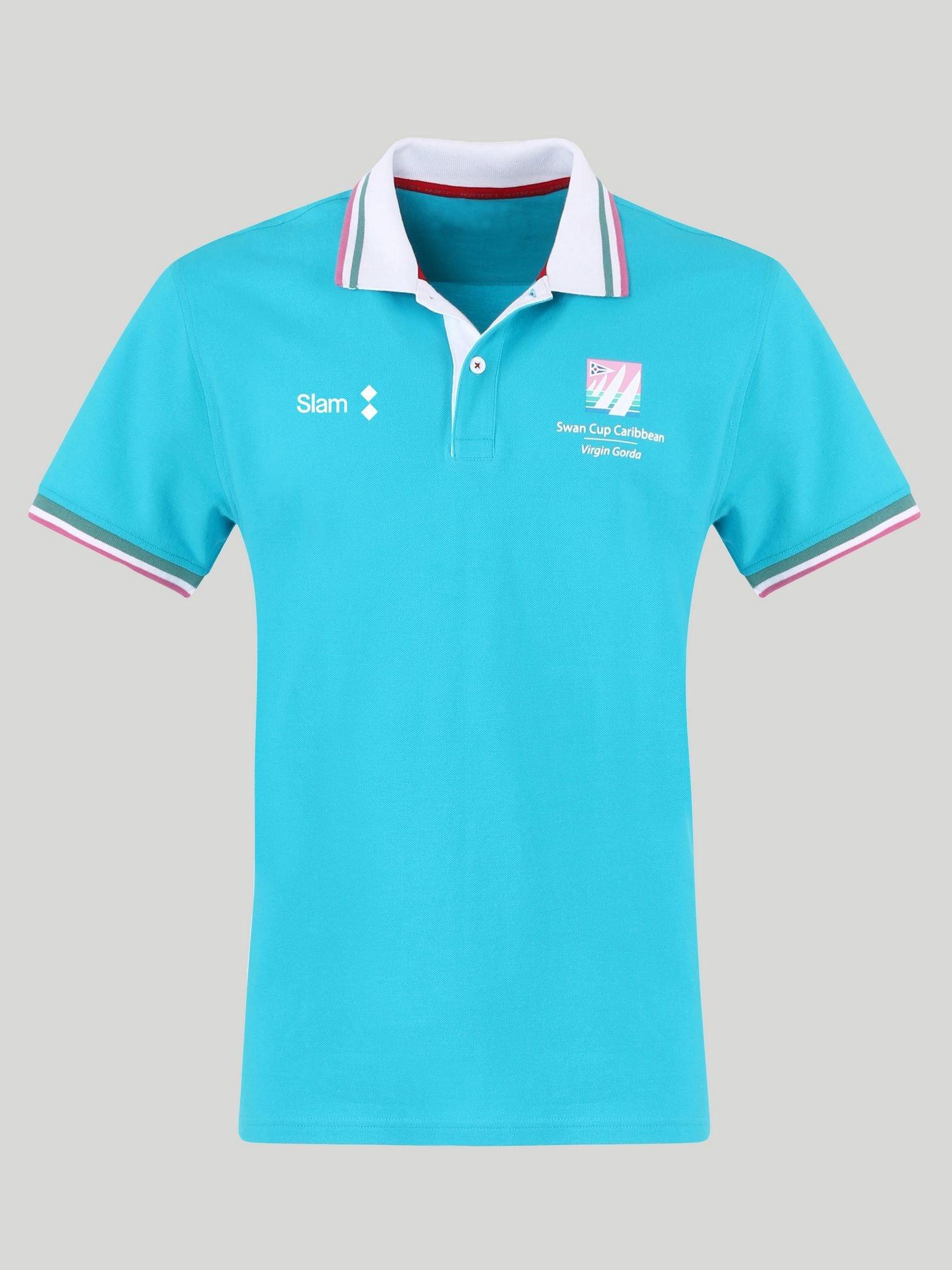 Polo D Swan Cup - Blu Caraibi