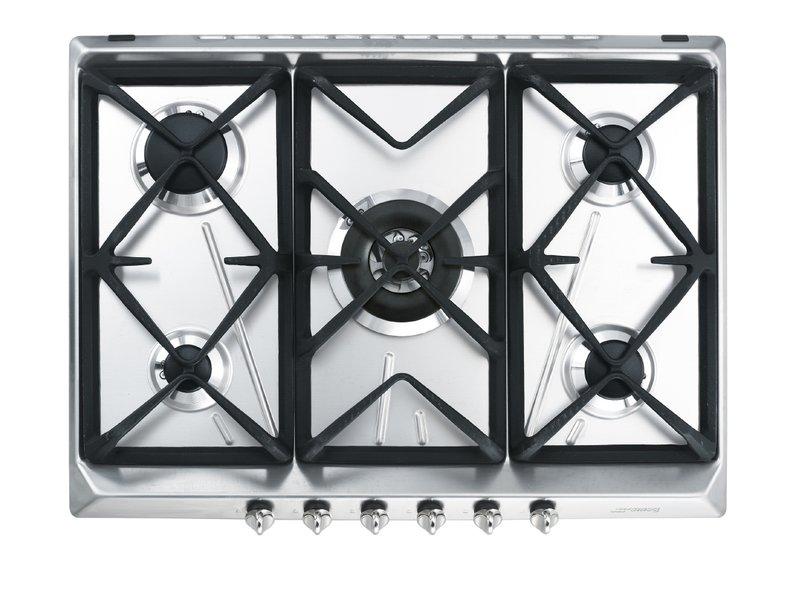 Encimera de cocción 70/75 cm Gas Acero inoxidable SRV576GH5