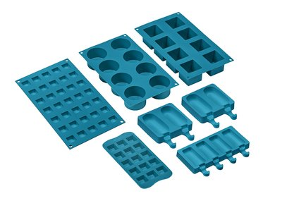Set de 7 moldes de silicona, apto para horno hasta 230ºC