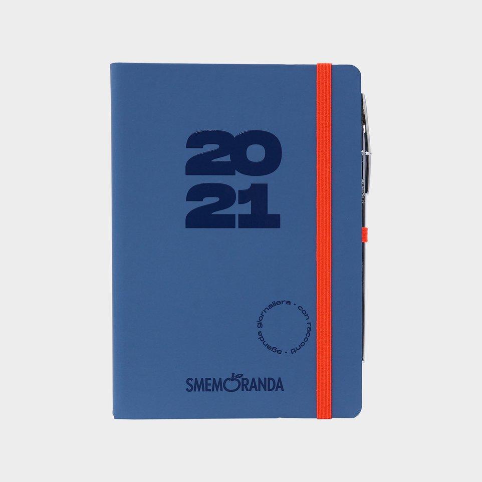 Smemoranda 12 Mesi 2021 Soft Giorn  12,9x18,7 Grigia