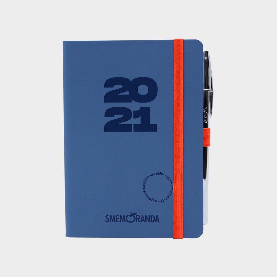 Smemoranda 12 Mesi 2021 Soft Sett 11,2x16,4 Grigia