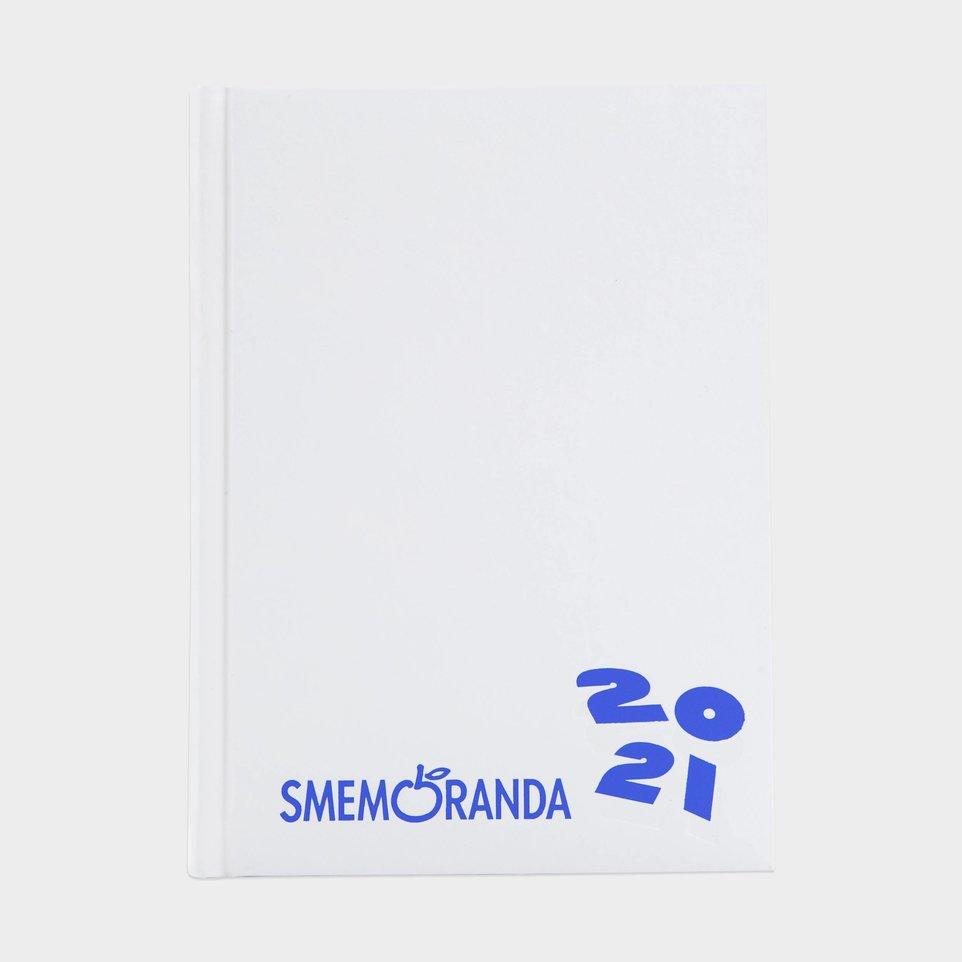 Smemoranda 16 Mesi 2021 Cm 13x17,7 Bianca Logo Blu