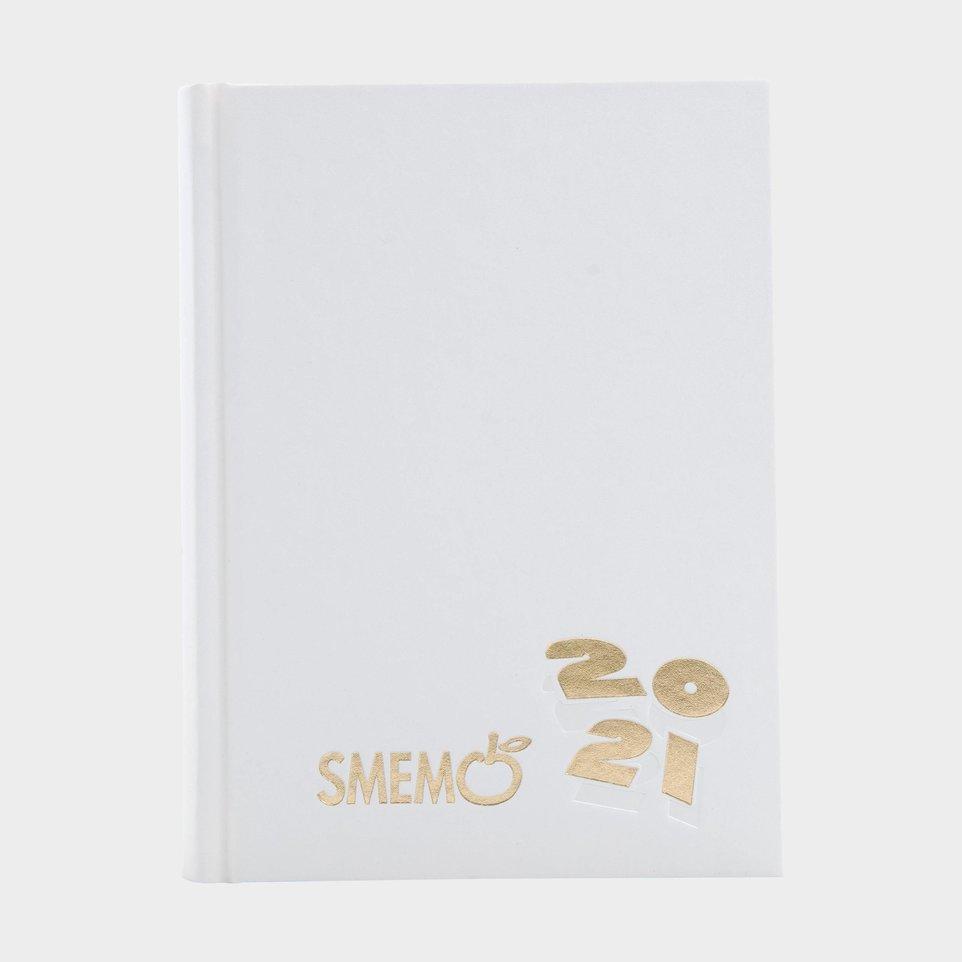 Smemo 16 Mesi 2021 Cm 10x13,6 Bianca Logo Oro