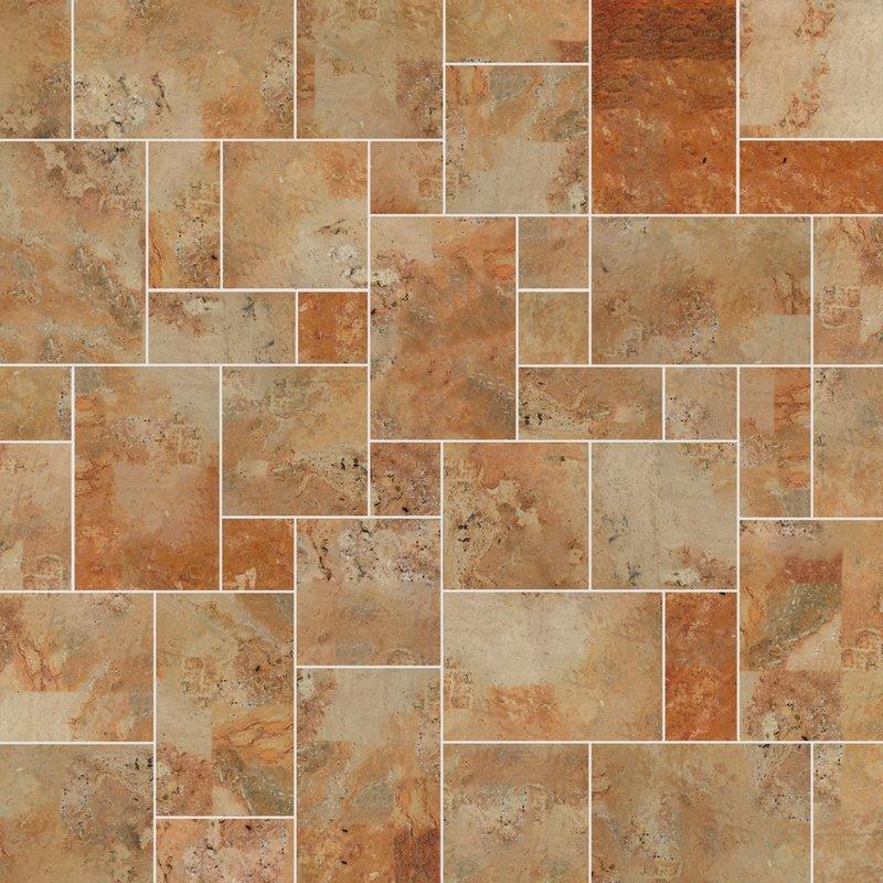 Caribbean Sawn Natural Travertine Tiles (Mixed Size Pack) - Caribbean