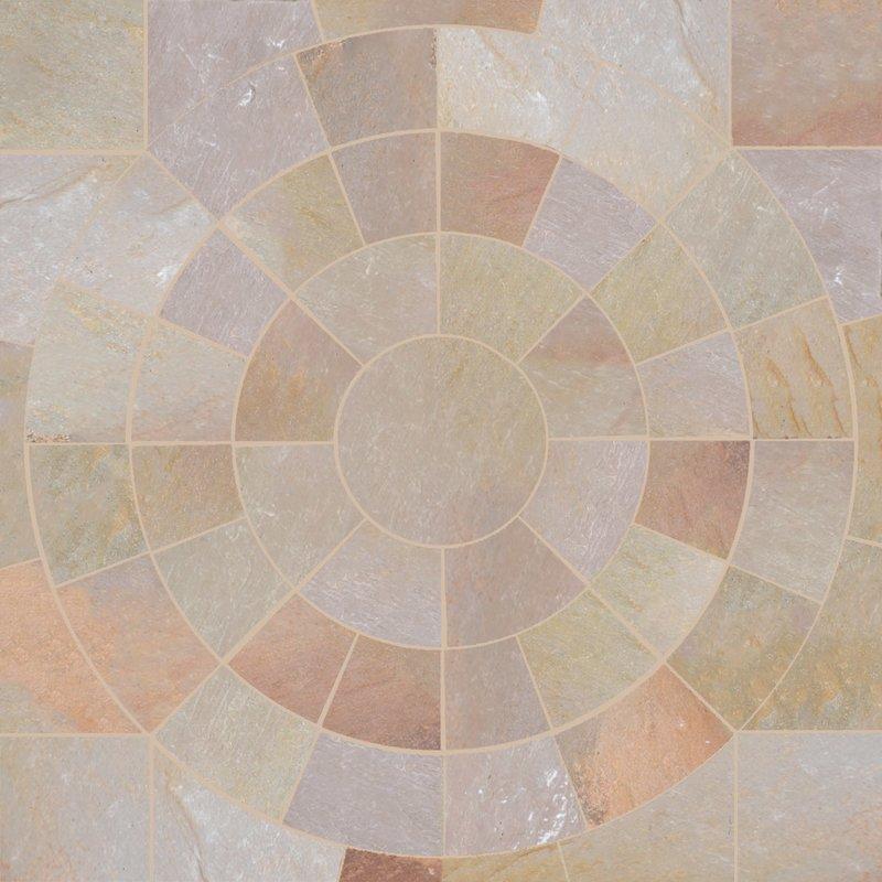 Autumn Gold Hand Cut Natural Sandstone Circles - Autumn Gold