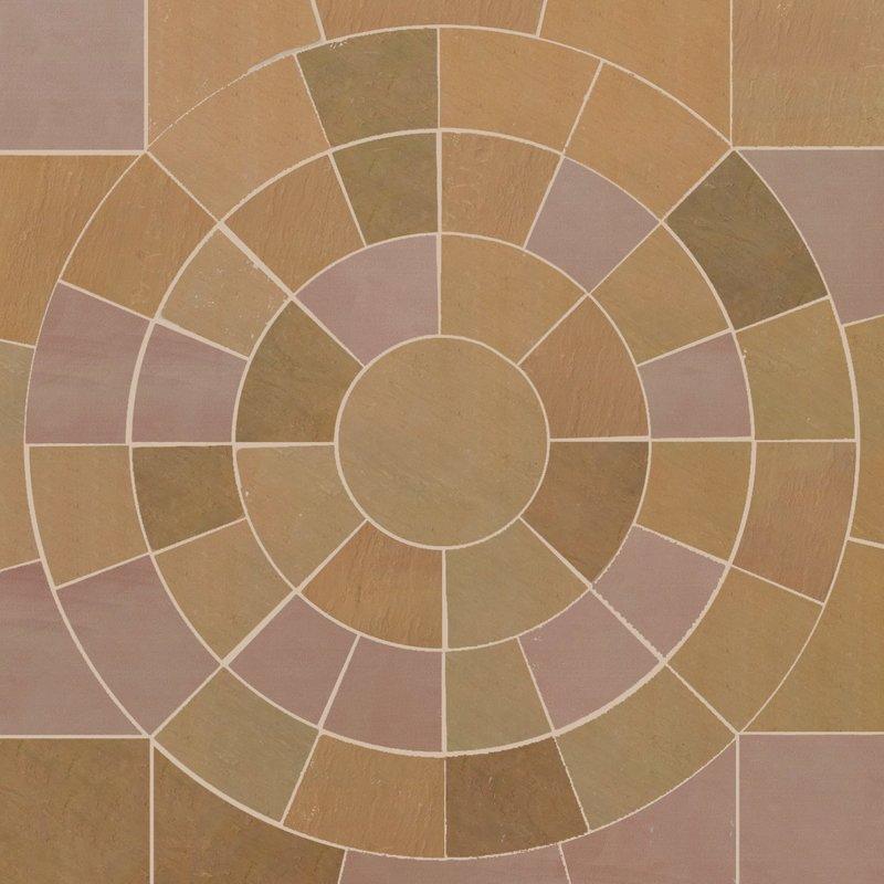 Modak Hand Cut Natural Sandstone Circles - Modak