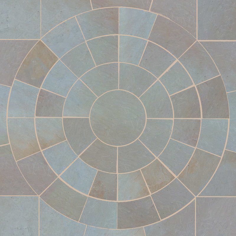 Raj Blend Hand Cut Natural Sandstone Circles - Raj Blend