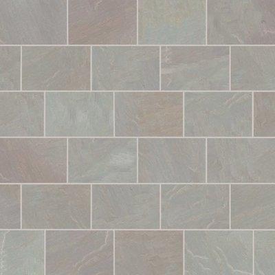 Raj Blend Hand Cut Natural Sandstone Paving (900x600 Packs)