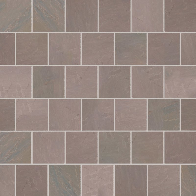 Autumn Brown Hand Cut Natural Sandstone Paving (560x560 Packs) - Autumn Brown