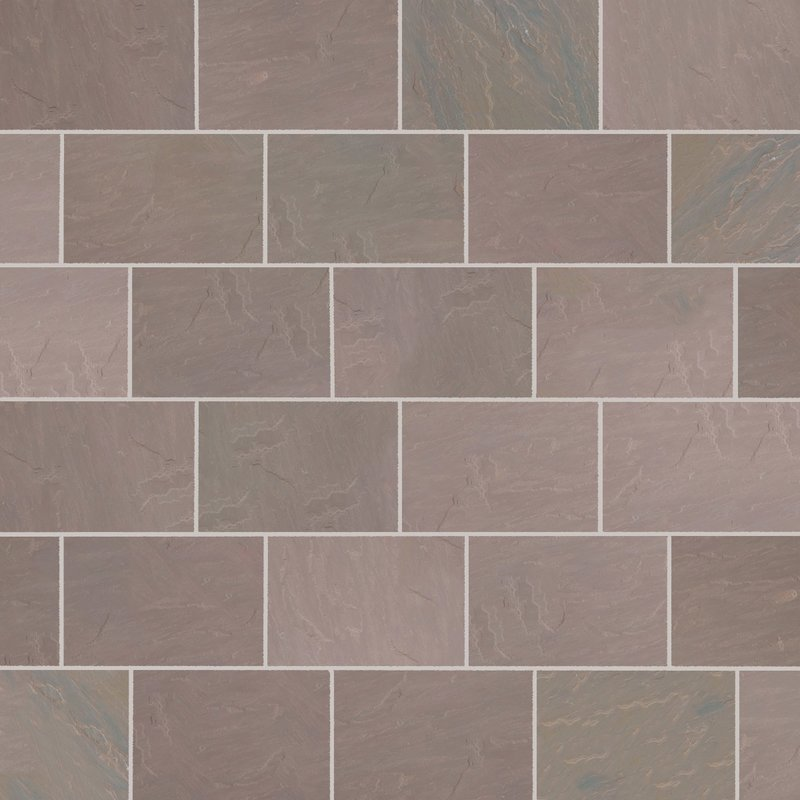 Autumn Brown Hand Cut Natural Sandstone Paving (840x560 Packs) - Autumn Brown