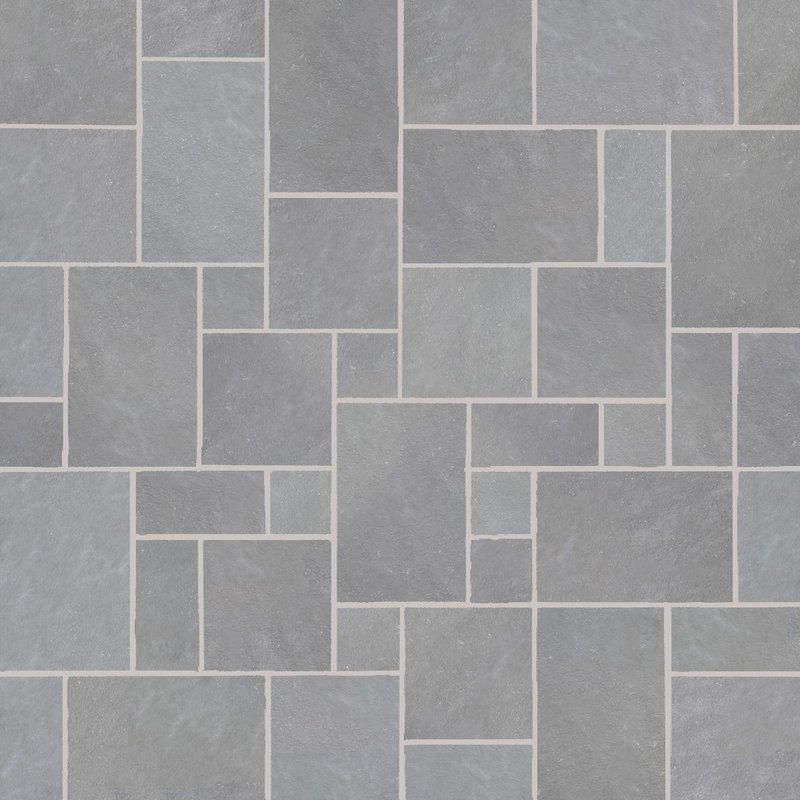 Kandala Grey Hand Cut Natural Sandstone Paving (Mixed Size Packs) - Kandala Grey