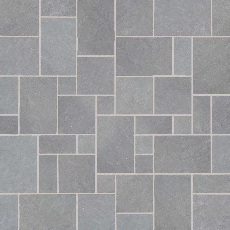 Kandala Grey Hand Cut Natural Sandstone Paving (Mixed Size Packs) - Kandala Grey