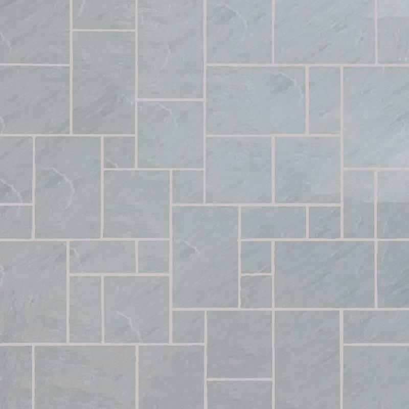 Kandala Grey Tumbled Natural Sandstone Paving (Mixed Size Packs) - Kandala Grey