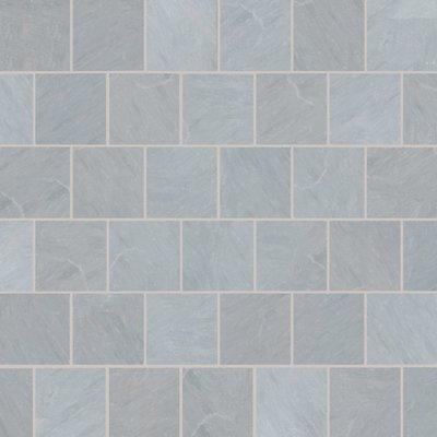 Kandala Grey Tumbled Natural Sandstone Paving (600x600 Packs)