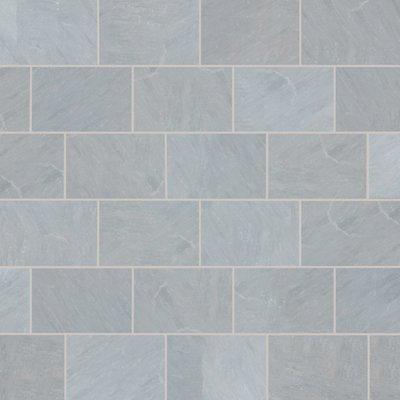 Kandala Grey Tumbled Natural Sandstone Paving (900x600 Packs)
