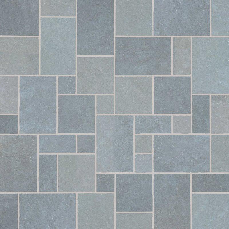 Kota Blue Hand Cut Natural Limestone Paving (Mixed Size Packs) - Kota Blue