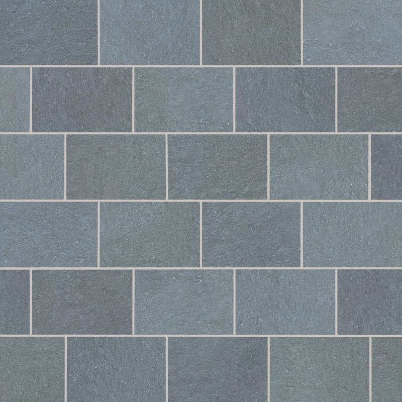 Graphite Tumbled Natural Limestone Paving (840x560 Packs) - Graphite