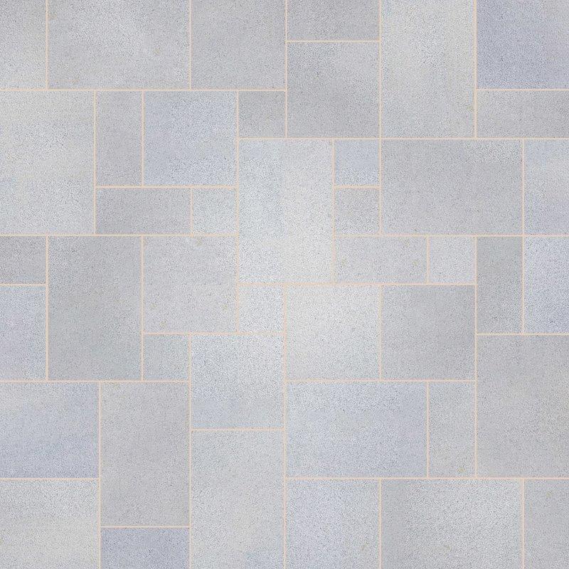 Light Grey Sawn Natural Granite Paving (Mixed Size Packs) - Light Grey