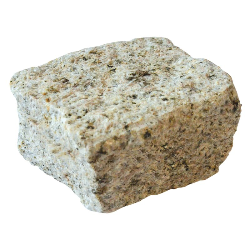 Yellow Cropped Natural Granite Cobbles (100x100x60 Size) - Yellow