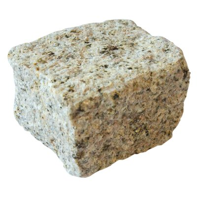 Yellow Cropped Natural Granite Cobbles (100x100x100 Size)