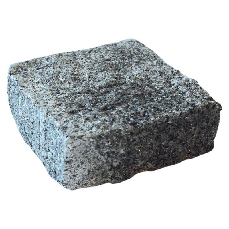Dark Grey Cropped Natural Granite Cobbles (100x100x60 Size) - Dark Grey