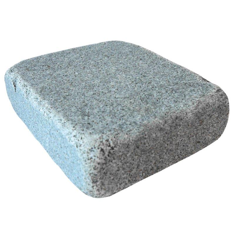 Dark Grey  Sawn, Honed & Tumbled Natural Granite Block Paving (140x140 Size) - Dark Grey