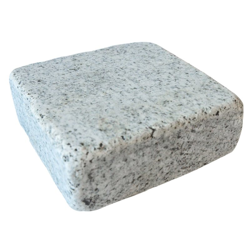 Light Grey Tumbled Natural Granite Block Paving (140x140 Size) - Light Grey