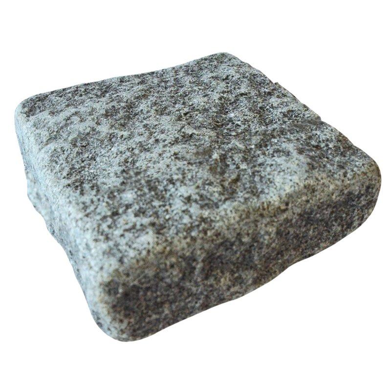 Dark Grey Sawn, Riven & Tumbled Natural Granite Block Paving (140x140 Size) - Dark Grey
