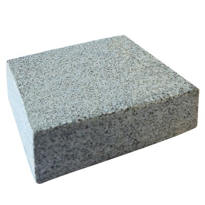 Dark Grey Sawn & Flamed Natural Granite Block Paving (150x150 Size)
