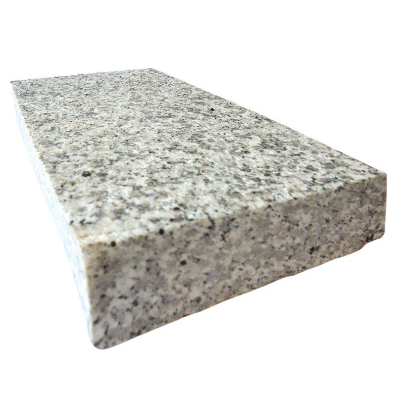 Light Grey Sawn & Flamed Natural Granite Block Paving (150x250 Size) - Light Grey