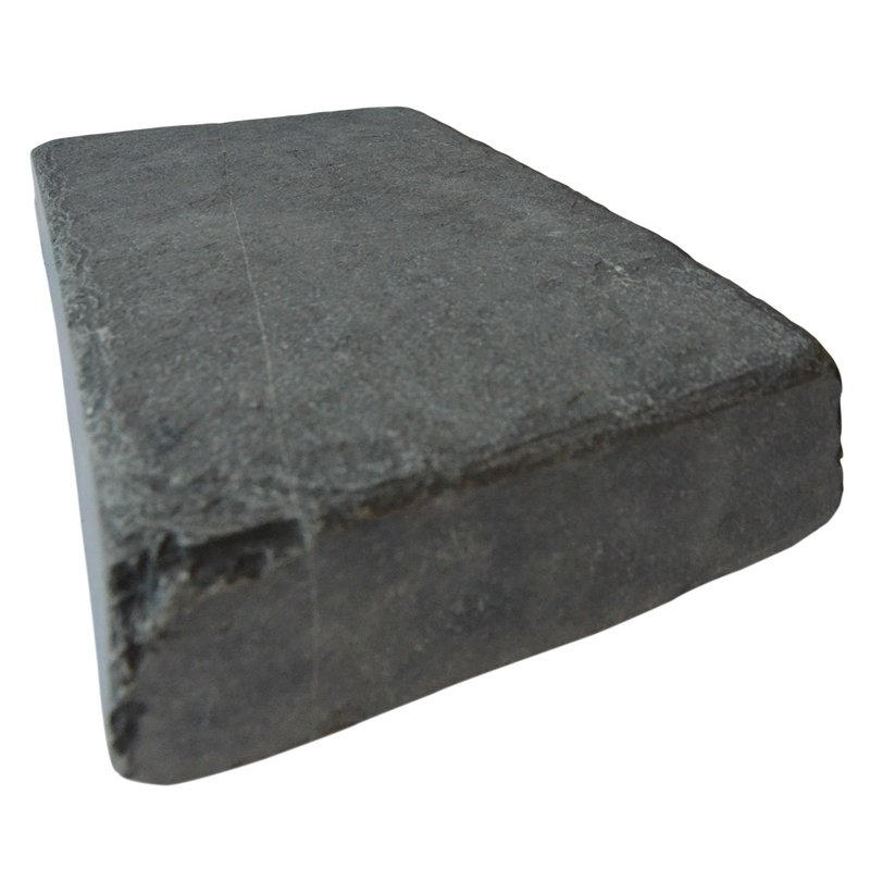 Kota Black Tumbled Natural Limestone Block Paving (150x250 Size) - Kota Black