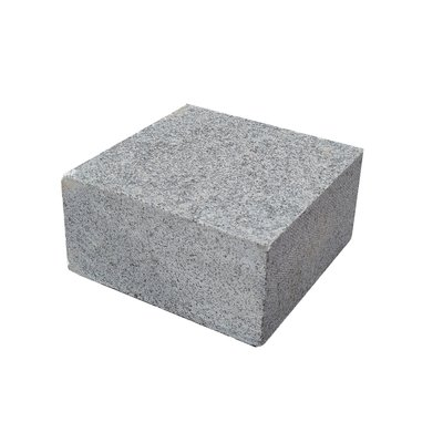 Dark Grey Sawn & Flamed Natural Granite Block Paving (100x100 Size)