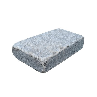 Dark Grey Sawn & Tumbled Natural Granite Block Paving (105x140 Size)