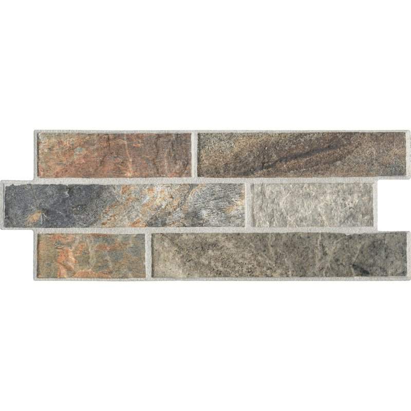 Peace Textured Outdoor Porcelain Wall Tiles - Hazel