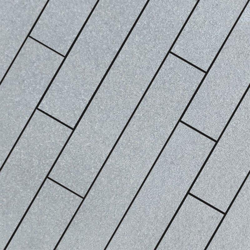 Dark Grey Sawn Flamed Natural Granite Planks - Dark Grey
