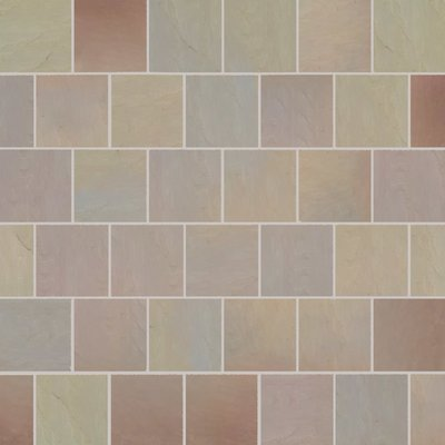 Autumn Gold Tumbled Natural Sandstone Paving (560x560 Packs)