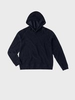 TEN C - HOODED SPONGE FLEECE - Dark Sapphire - TEN C