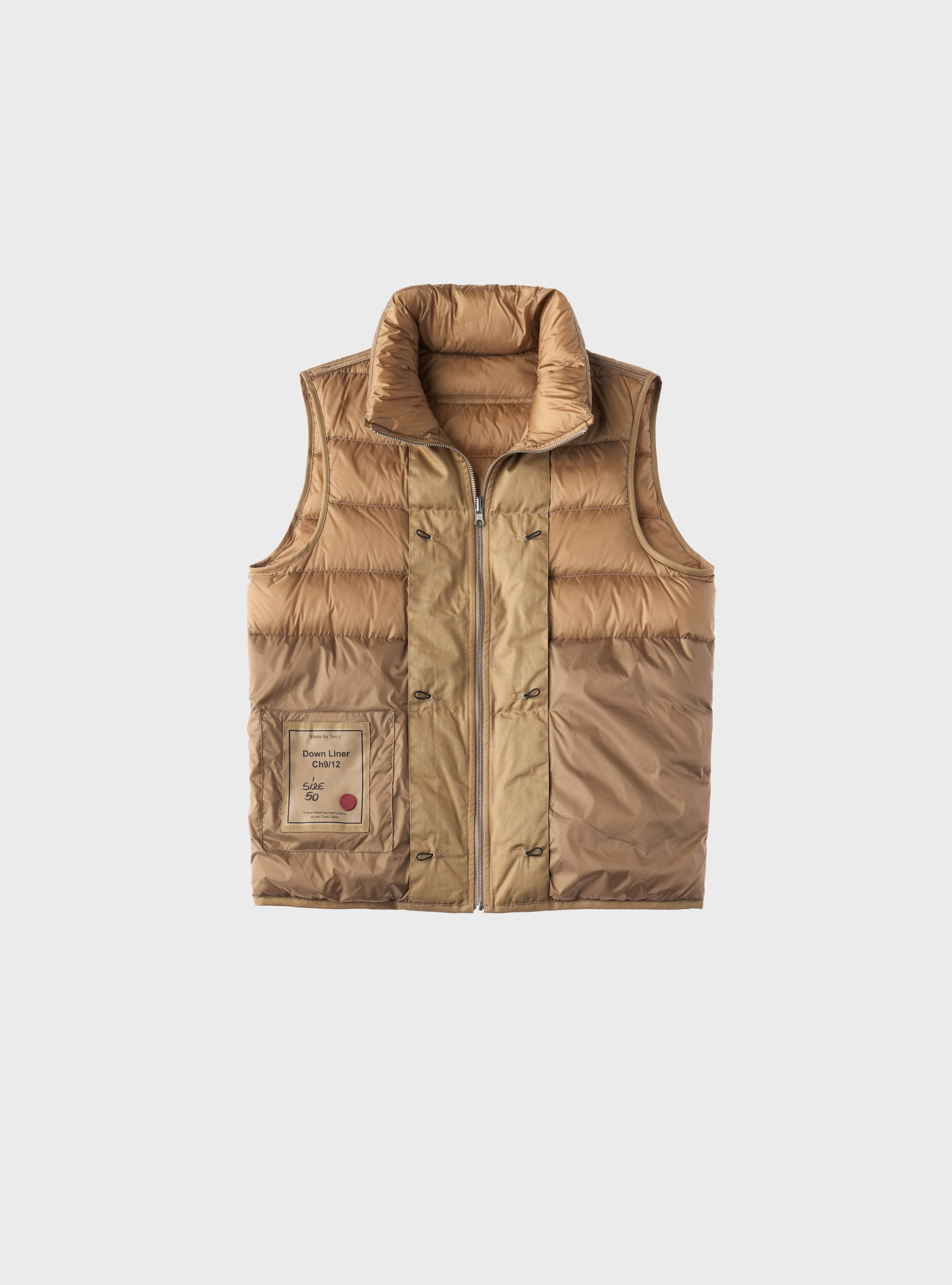 TEN C - VEST DOWN LINER - Light Kaki - TEN C
