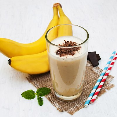 Bebida con sabor a plátano split