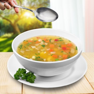 Vegetable-flavoured soup