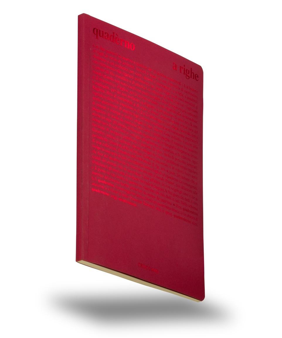 Quaderno a righe rosso