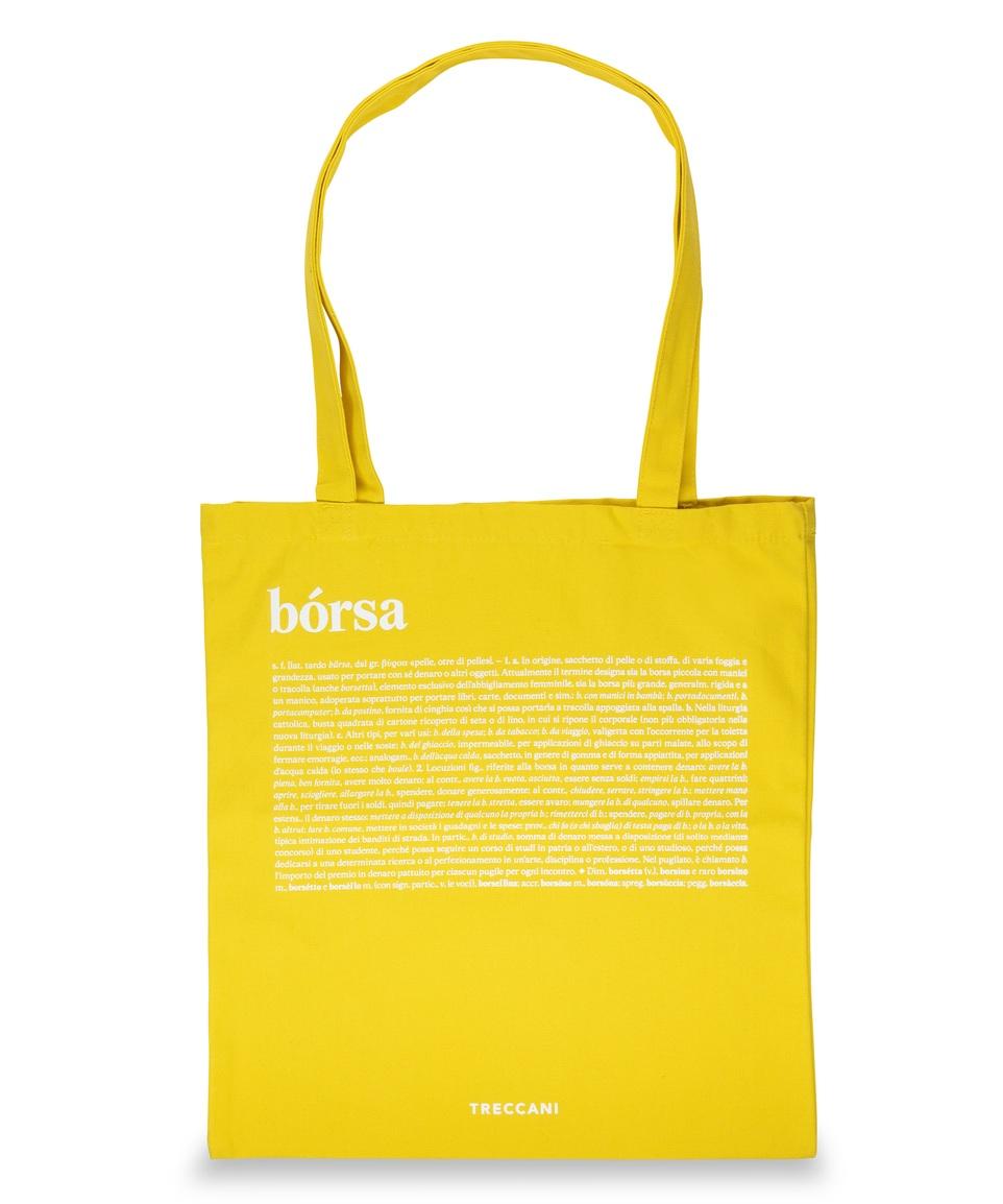 Cotton bag yellow / white