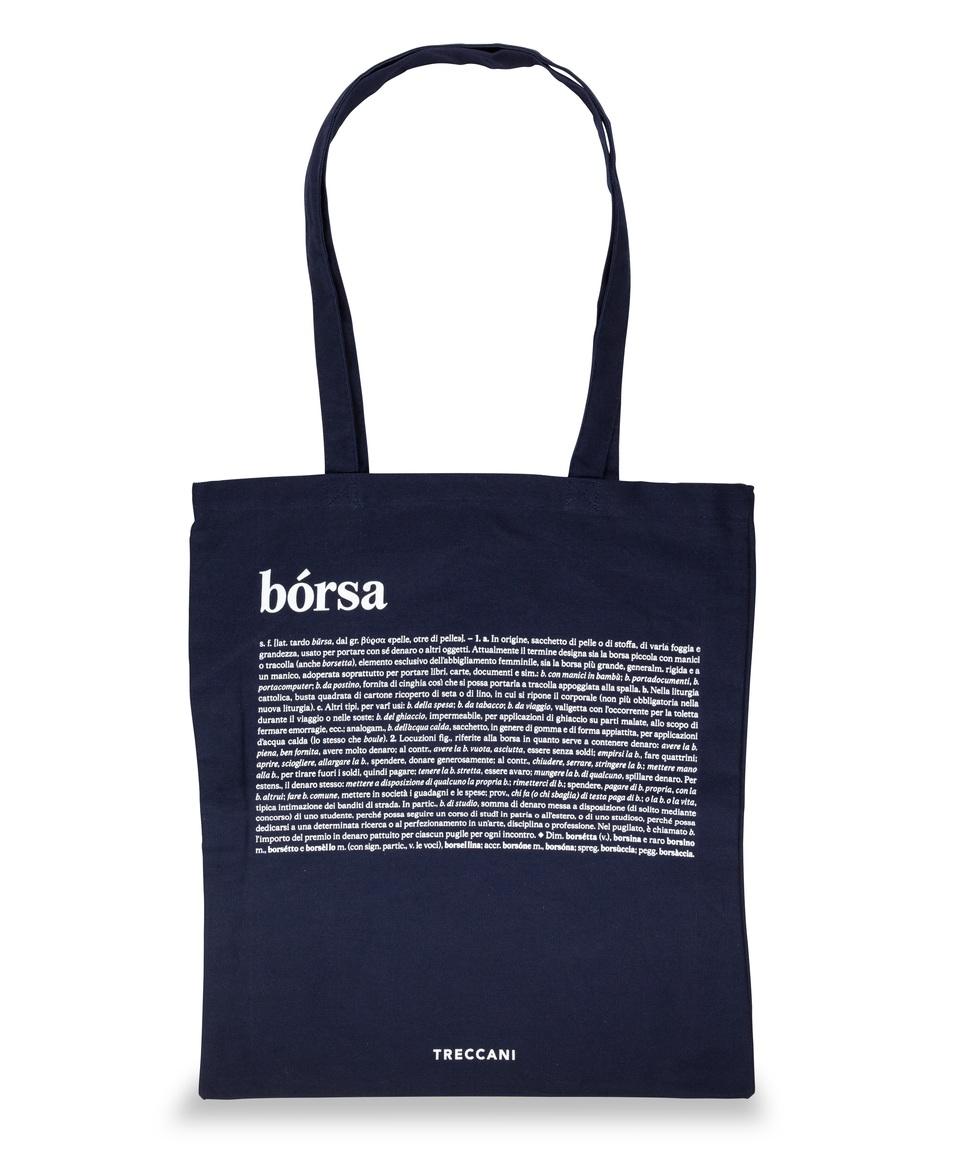 Cotton bag blue / white