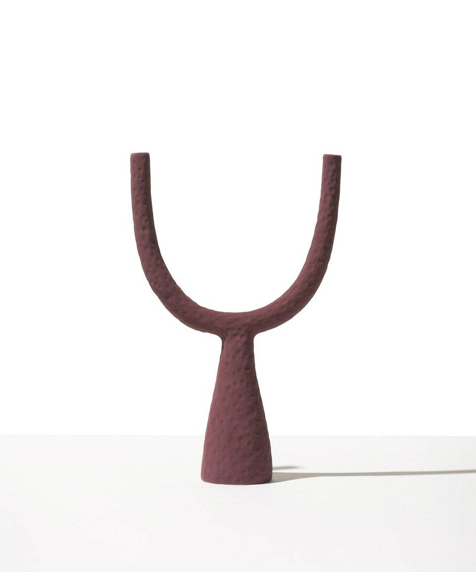 Burgundy candlestick
