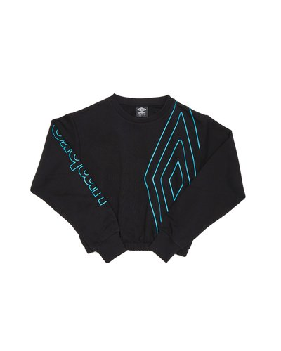 Woman cotton crew neck with contrasting print