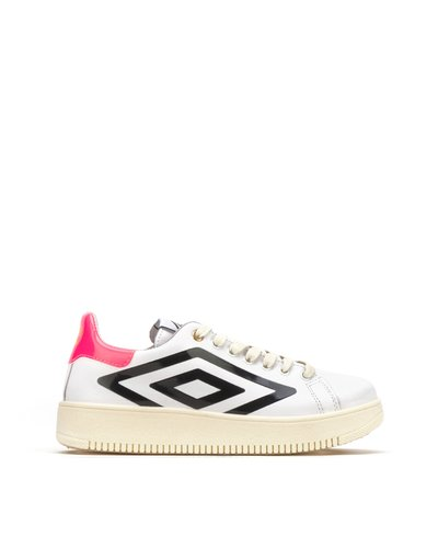 Platform lace-up sneakers - White