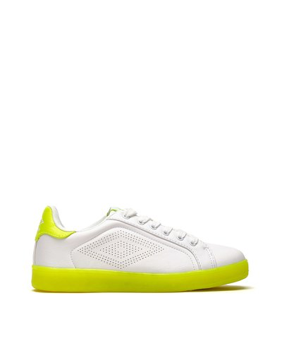 Laser W lace-up sneakers - Lime Green
