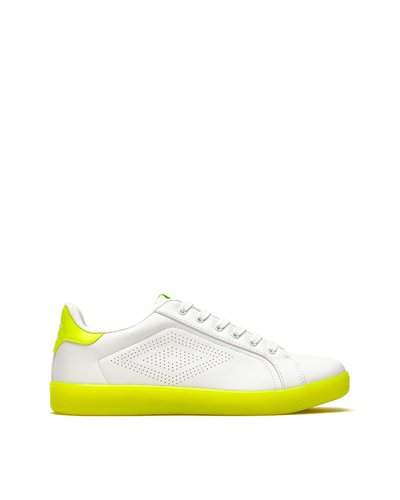 Laser lace-up sneakers - Lime Green