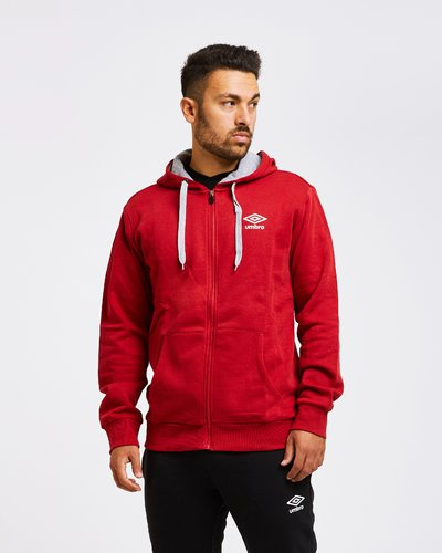 Vintage-style logo brushed fleece full zip
