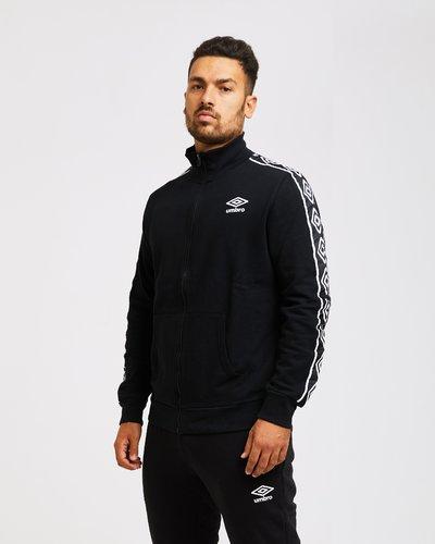 Brushed fleece full zip with logo band